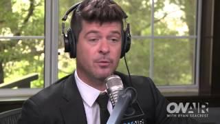 Robin Thicke On Meeting Nicki Minaj | On Air with Ryan Seacrest