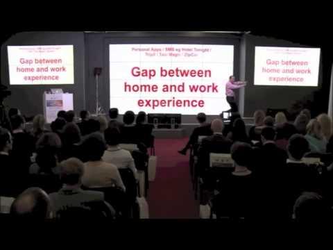 Workplace IT frustrations! Future corporate travel industry keynote speaker Futurist Patrick Dixon