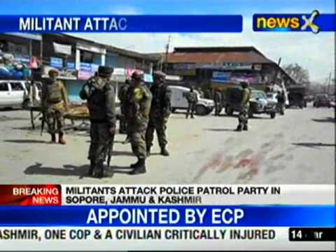 J&K: Militant attack in Sopore, 2 people injured