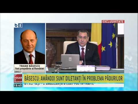 Traian Basescu, despre conflictul dintre Ponta si Iohannis