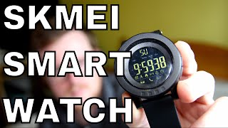 Skmei 1255 Bluetooth Smartwatch Review - 6 Month Battery Life, BT Notifications, LED Screen