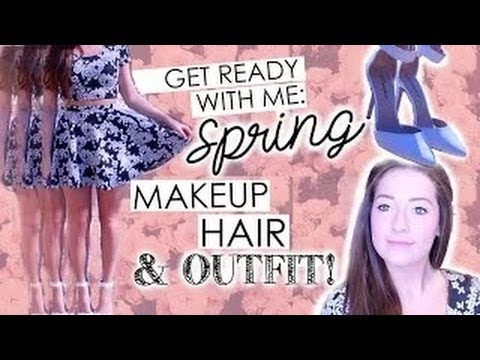 Get Ready with Me  Spring Makeup, Outfit, + Hair!   YouTube 720p
