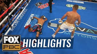 Sergey Lipinets defeats Jayar Inson by TKO with savage left hook | HIGHLIGHTS | PBC ON FOX