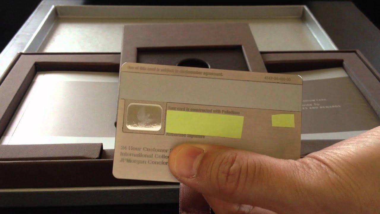 J P Morgan Chase Palladium Credit Card Unboxing Review