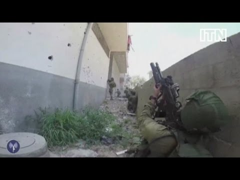Israeli video of soldiers in Gaza searching for weapons and tunnels