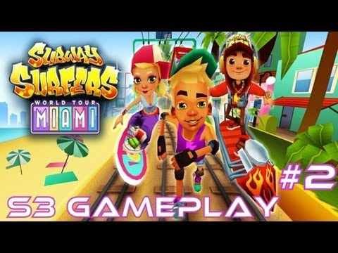 Subway Surfers: Miami - Samsung Galaxy S3 Gameplay #2