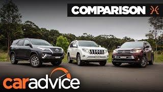 Toyota SUV comparison: Fortuner v Kluger v Prado   CarAdvice streaming