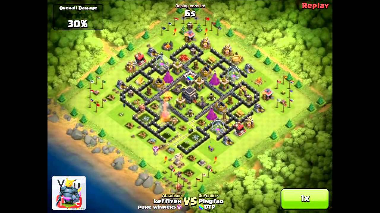 Town hall 8 trophy hunting base