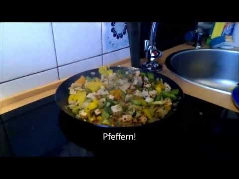 Easy Vegan Kochen  Vegan Cooking ,basmati rice vegetables Tofu!