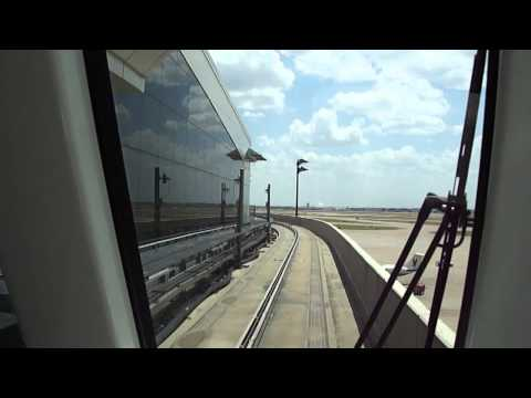 Skylink DFW - Dallas Fort Worth International Airport - Tren en el aeropuerto p2/2
