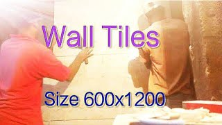How to wall tiles install size 2X4