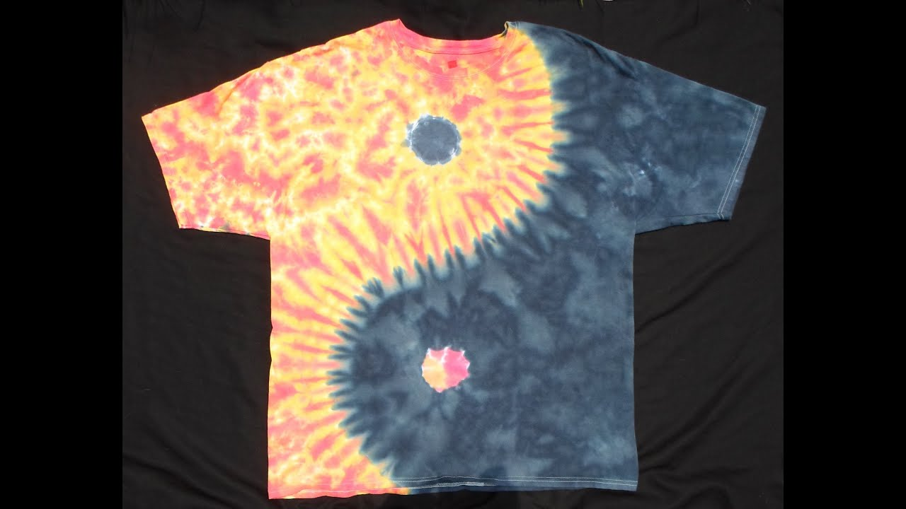 How to dye a yin yang tie dye design version 2 0 youtube How to design shirt