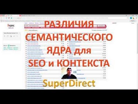 Семантическое ядро для SEO и контекста! Отличие №1 | SuperDirect