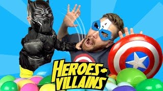 Superheroes vs Villains Surprise Egg Challenge IRL with Batman Toys & Spiderman Toys by KidCity