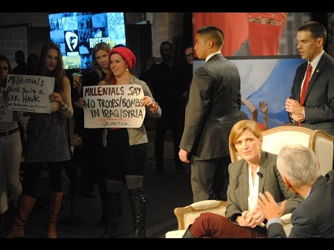 Protesters interrupt U.N. Ambassador Samantha Power at Fusion's RiseUp summit