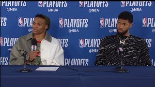 Russell Westbrook & Paul George Postgame Interview - Game 4 | Blazers vs Thunder | 2019 NBA Playoffs
