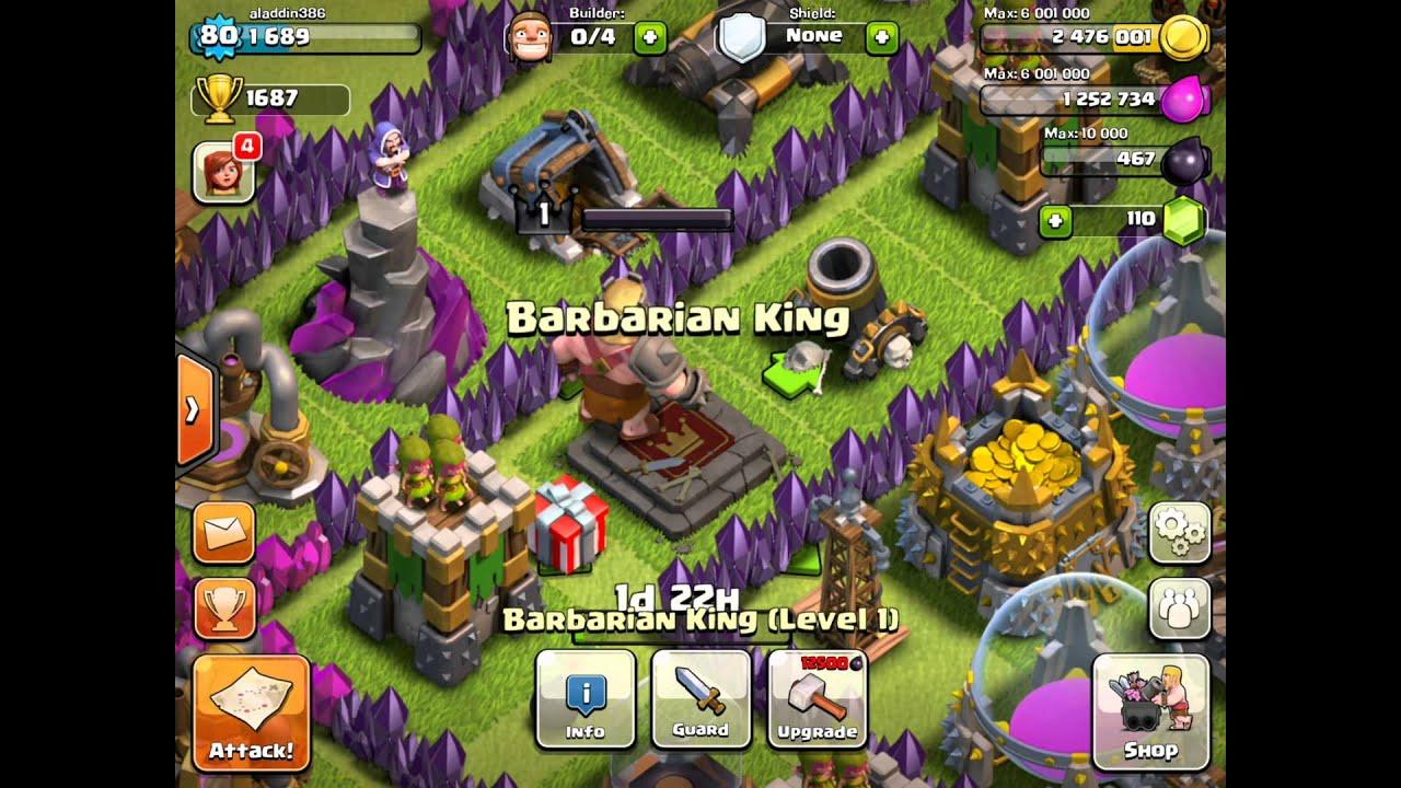 Coc barbarian king info youtube