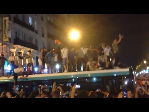 Euro 2016 Crazy atmosphere France highlights at Paris Marseille Lille Lyon