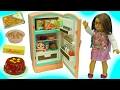 American Girl Fridge Playset Maryellen's Refrigerator & Food Set with Shopkins Surprise thumbnail
