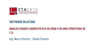 Software in action - Analisi sismica semplificata in zona 4 di una struttura in c.a.