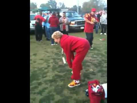 Grinding Granny At USC Tailgate