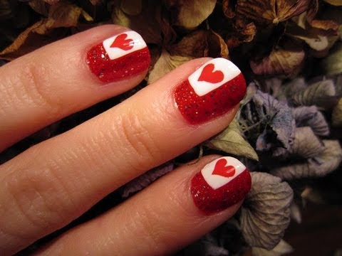 A Touch of Heart Nail Art Tutorial