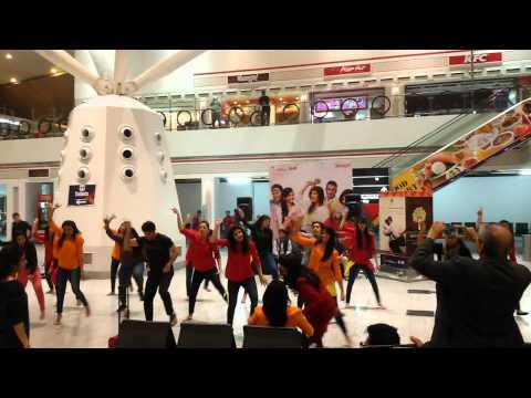 SpiceJet Holi Celebration 2015 Flash mob practice