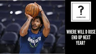 Where Will Derrick Rose Play Next Year? #AskMazique