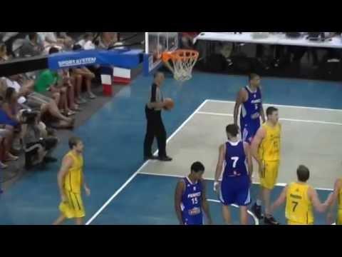 Basketball France vs Australie à Antibes le 17.08.2014 Salle Azur Arena
