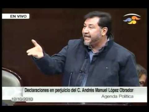 Noroña exponiendo las mentiras de Calderon
