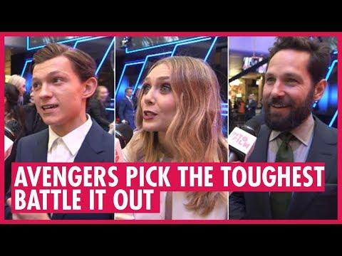 Avengers choose the toughest Avenger - Captain America: Civil War premiere