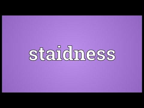 Header of staidness