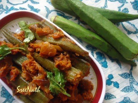Stuffed Lady's Finger Recipe / Stuffed Bhindi / Stuffed Okra - Side dish Variety