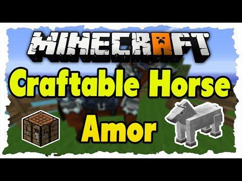 Minecraft CraftableHorseArmor Mod 1.7.5 Review - Pferderüstung. Sättel uvm. craften!