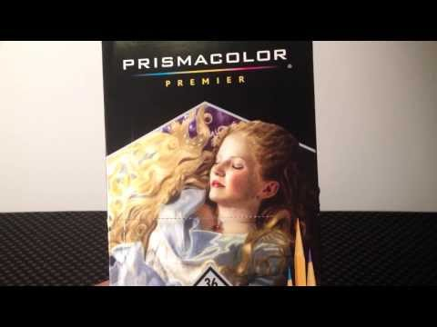 Prismacolor verithin color pencils unboxing