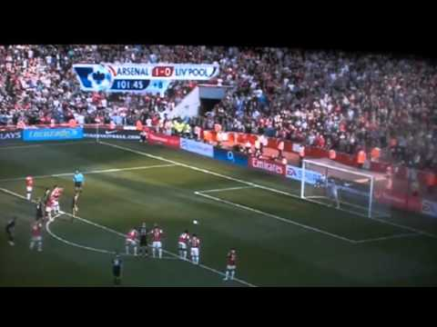 EPL - Arsenal vs Liverpool 1-1 (Dirk Kuyt Last Minute Goal) 2011