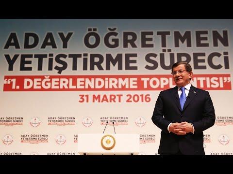 Başbakan Ahmet Davutoğlu, Aday Öğretmen Yetiştirme Süreci Değerlendirme Toplantısı'nda konuştu.