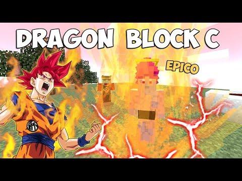 MINECRAFT: SUPER SAIYAN DIOS EN DRAGON BLOCK C