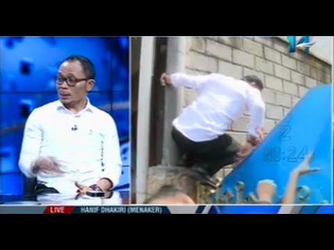 Sidak Menteri Tenaga Kerja Hanif Dakhiri Ke Penampungan TKI Dengan Lompati Pagar