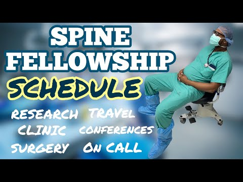 My Complete Spine Fellowship Schedule....