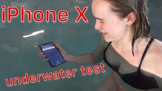 💦 iPhone X Underwater Tests 💦 Siri works but facial recognition failed 🥴