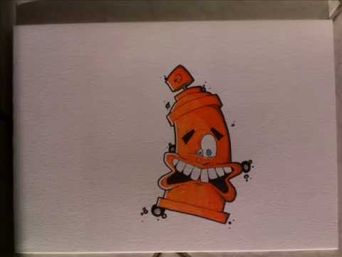 Tutorial bombe personnage graffiti youtube - Bombe de peinture graffiti ...