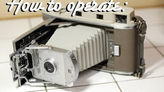 Polaroid Model 800 Land Camera - How to operate