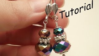 TUTORIAL Orecchini per principianti con cipollotti | Beads TUTORIAL for beginner