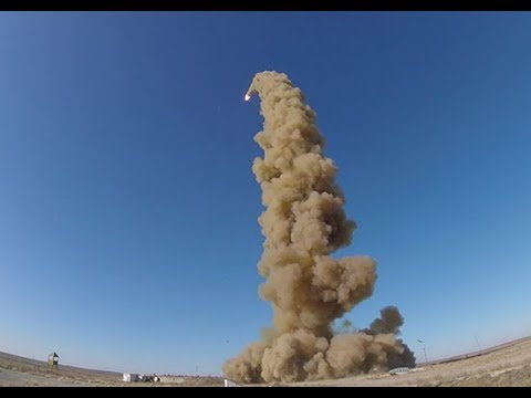 Пуск модернизированной противоракеты системы ПРО на полигоне Сары-Шаган