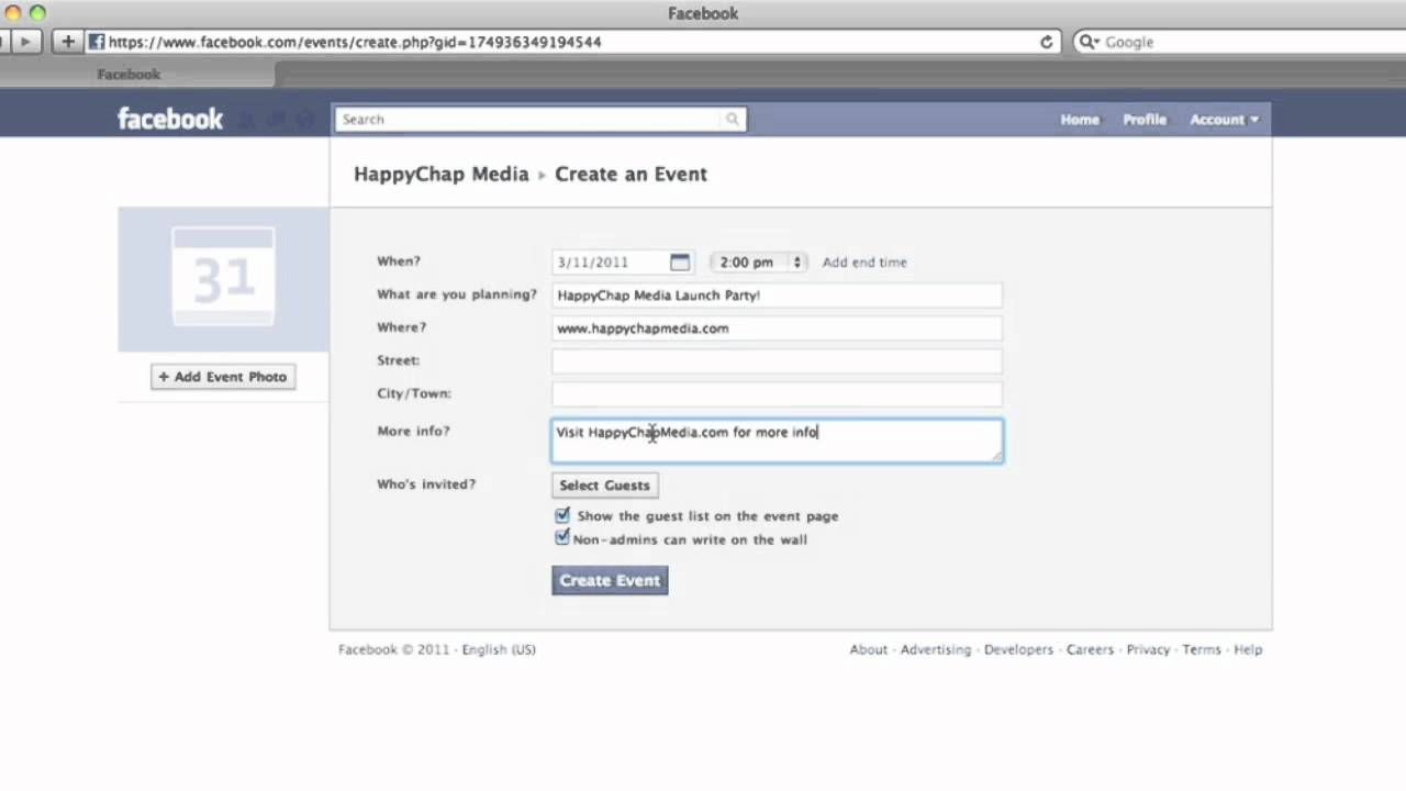 how to create an event on your facebook page