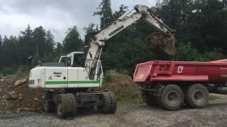 Liebherr A900 C Wheel Excavator Loading Tractor