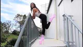 Review How To Walk Up Stairs In 8 Inch Pleaser High Heel Boots For 1st Time