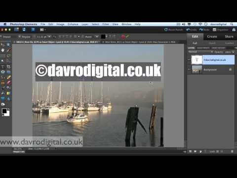 Watermark. signature Photoshop Elements