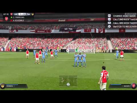 FIFA 15 Goal Leighton Baines w/ 40-yard free kick